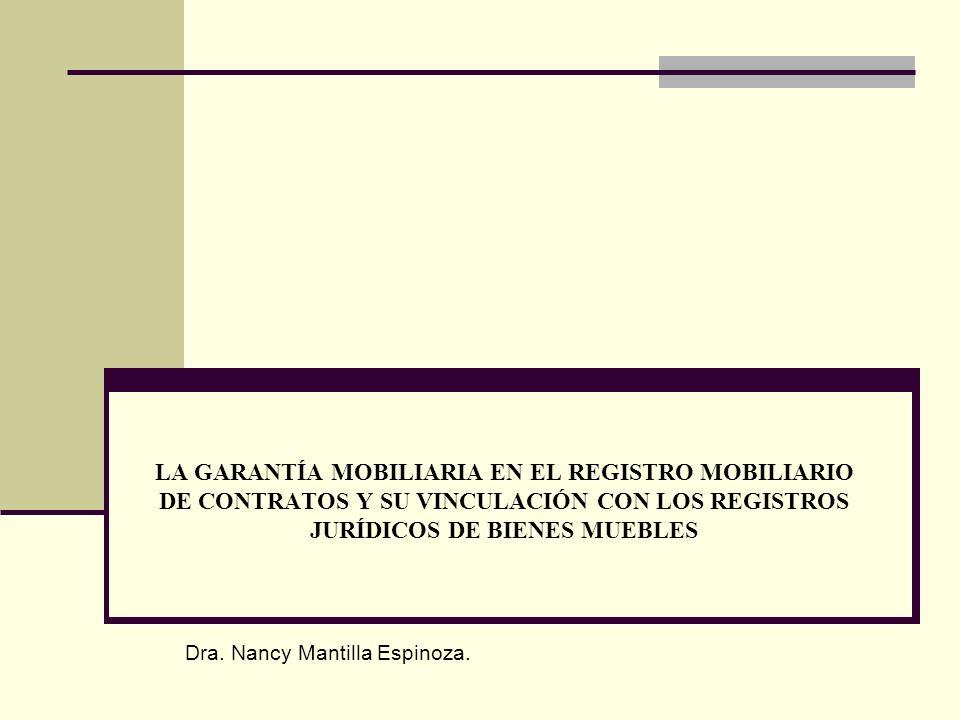 Registro De Bienes Muebles : La garantÍa mobiliaria en el registro mobiliario de