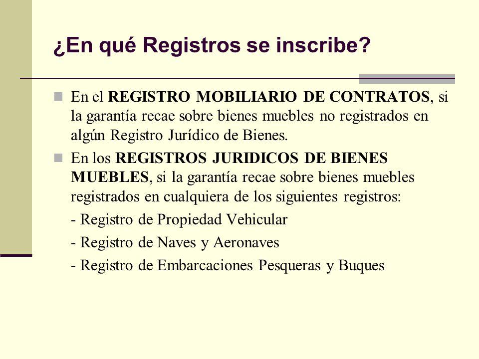 La garant a mobiliaria en el registro mobiliario de for Registro de bienes muebles de navarra