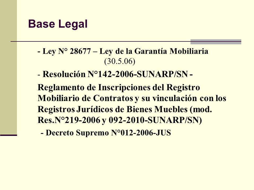 la garant a mobiliaria en el registro mobiliario de