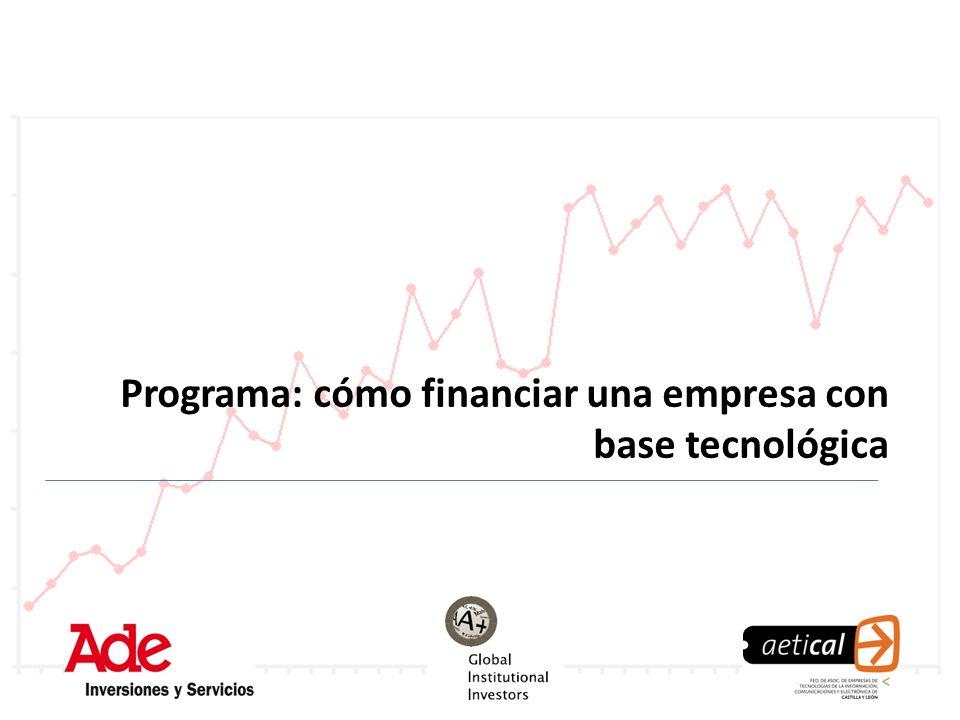 Programa: cómo financiar una empresa con base tecnológica