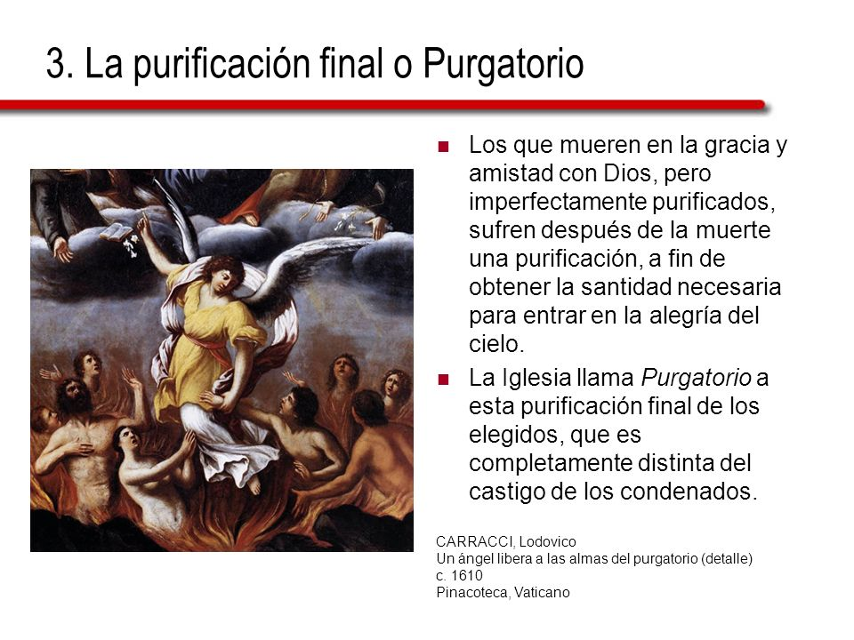 3. La purificación final o Purgatorio