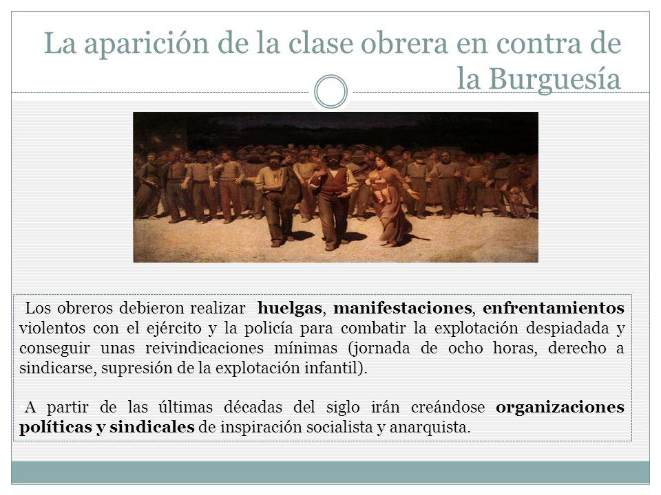 La aparición de la clase obrera en contra de la Burguesía