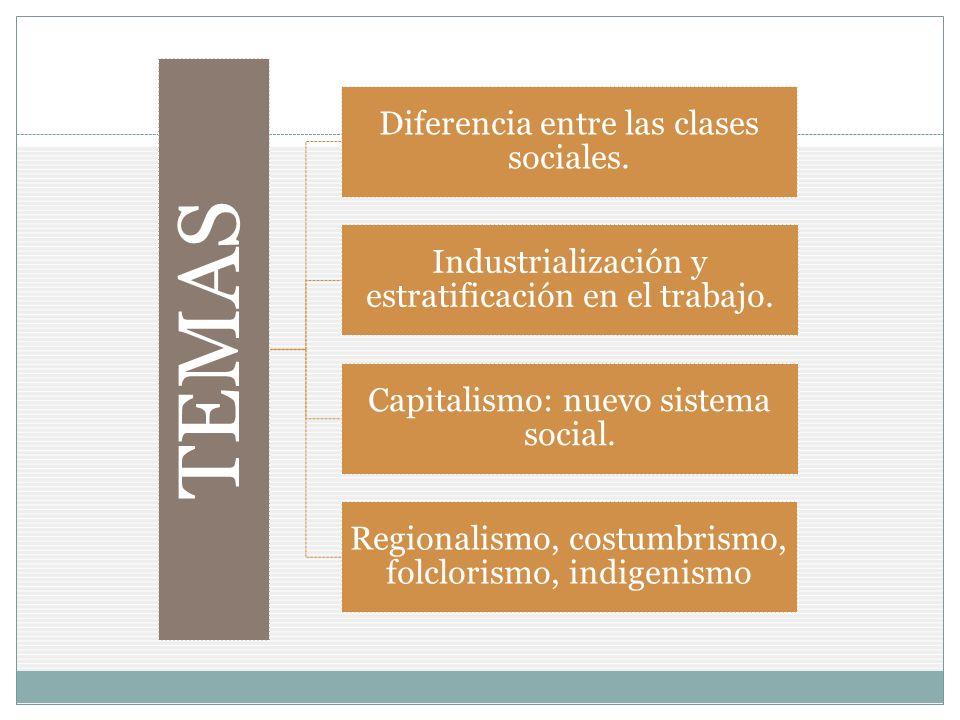 TEMAS Diferencia entre las clases sociales.