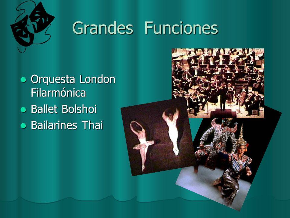 Grandes Funciones Orquesta London Filarmónica Ballet Bolshoi