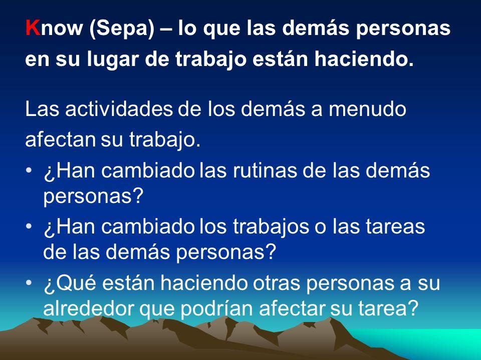 Know (Sepa) – lo que las demás personas