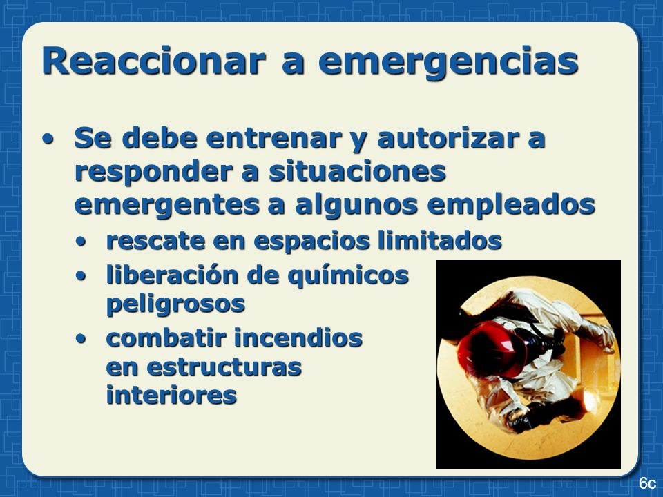 Reaccionar a emergencias