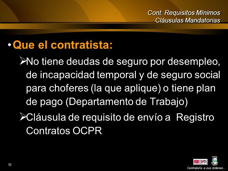 Contratos de servicios profesionales y consultivos ppt for Oficina de trabajo temporal