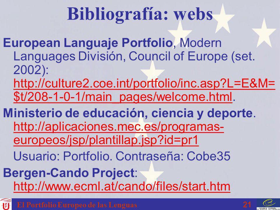 Bibliografía: webs