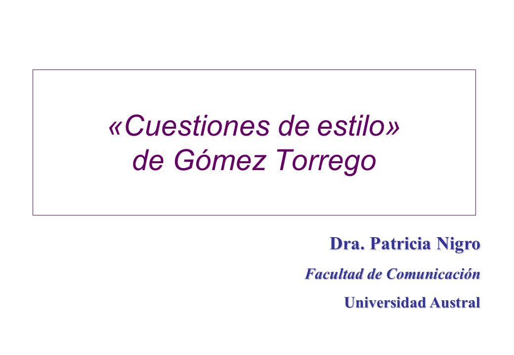 «Cuestiones de estilo» de Gómez Torrego
