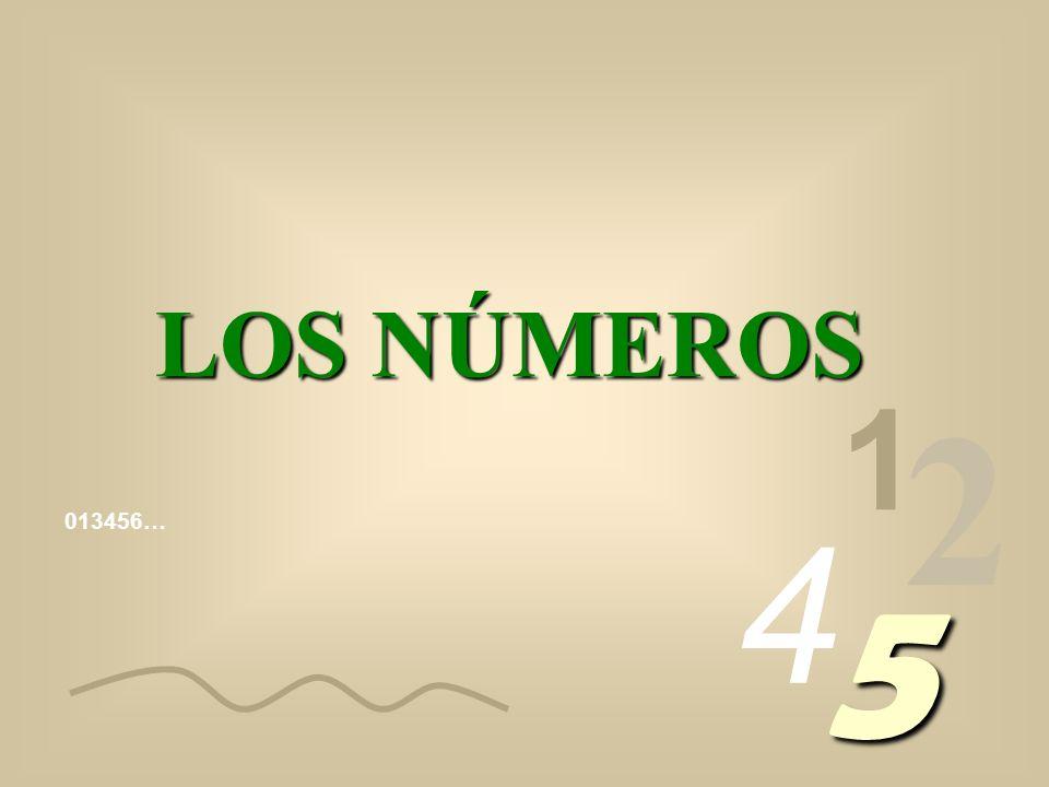 LOS NÚMEROS 1 2 4 013456… 5
