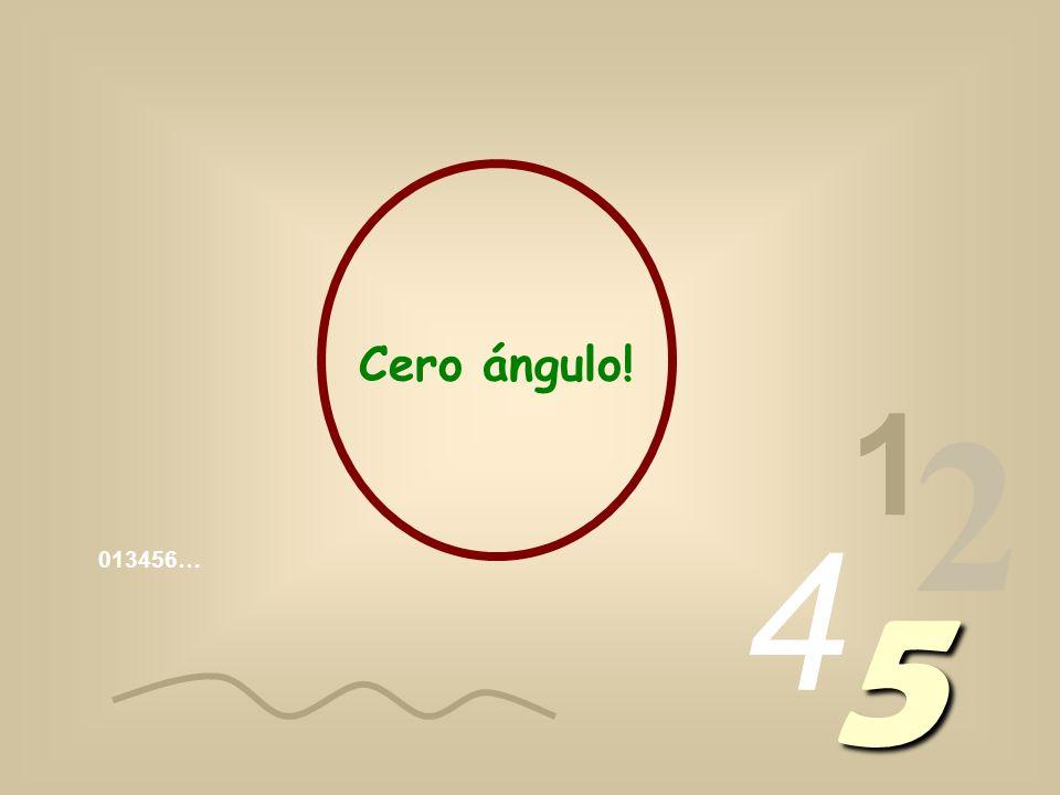 Cero ángulo! 1 2 4 013456… 5