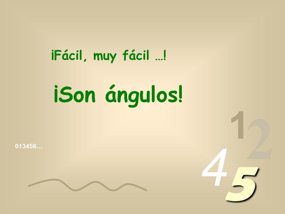 ¡Fácil, muy fácil …! ¡Son ángulos! 1 2 4 013456… 5