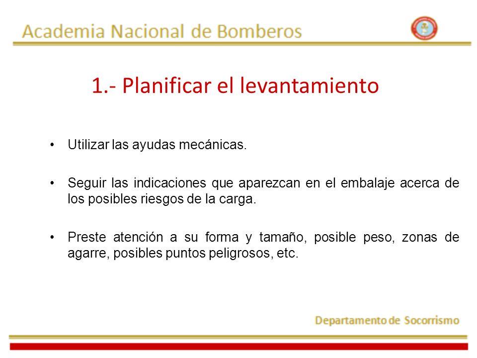 1.- Planificar el levantamiento