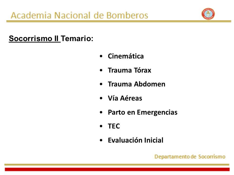 Socorrismo II Temario: