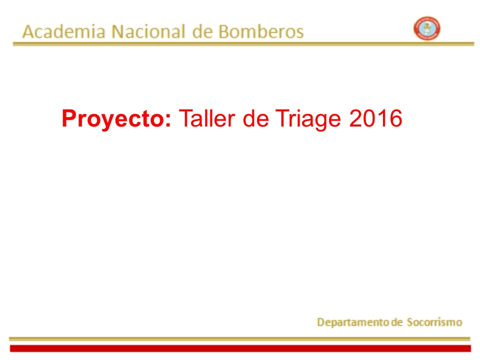Proyecto: Taller de Triage 2016