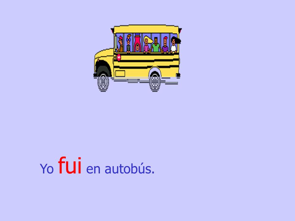 Yo fui en autobús.