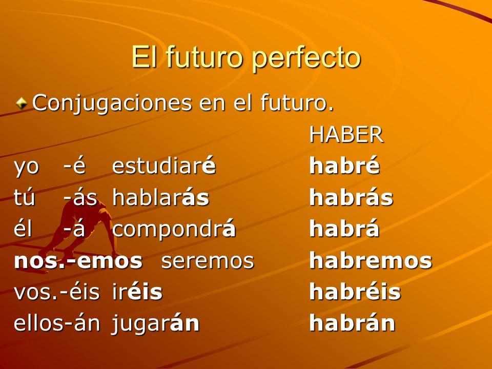El futuro perfecto Conjugaciones en el futuro. HABER