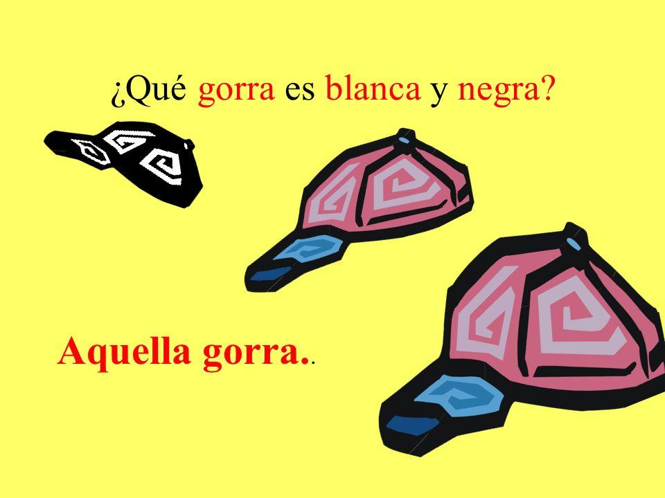 ¿Qué gorra es blanca y negra