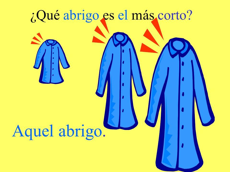 ¿Qué abrigo es el más corto