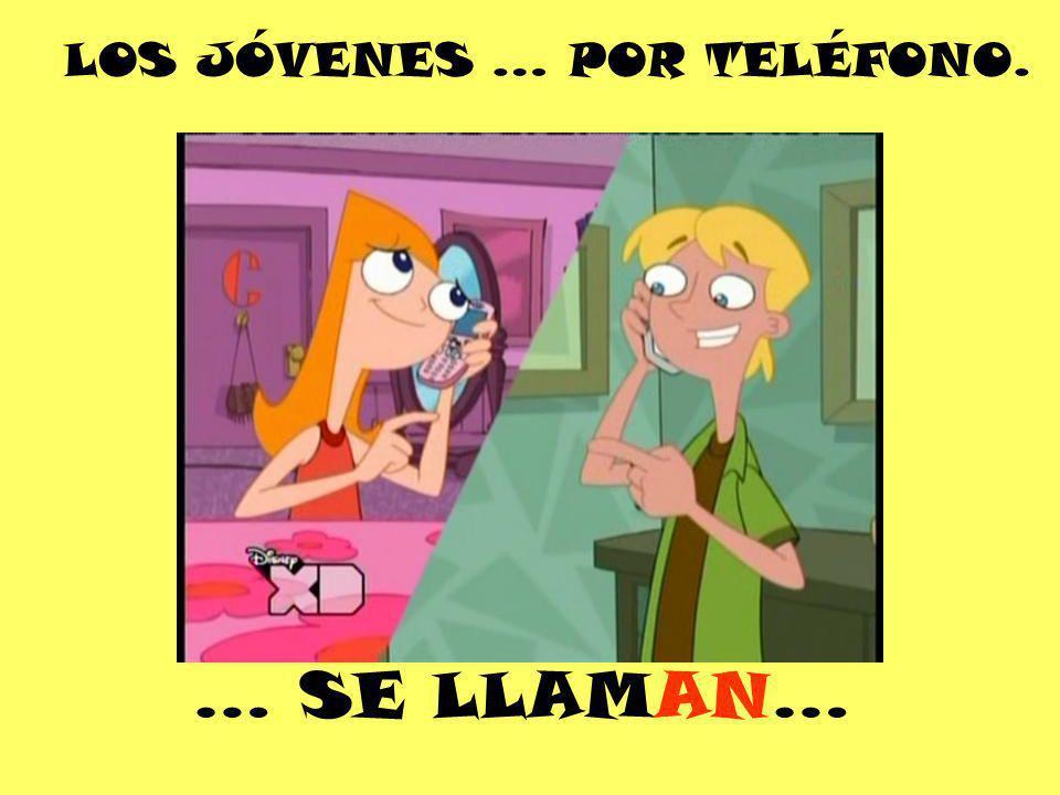 LOS JÓVENES … POR TELÉFONO.