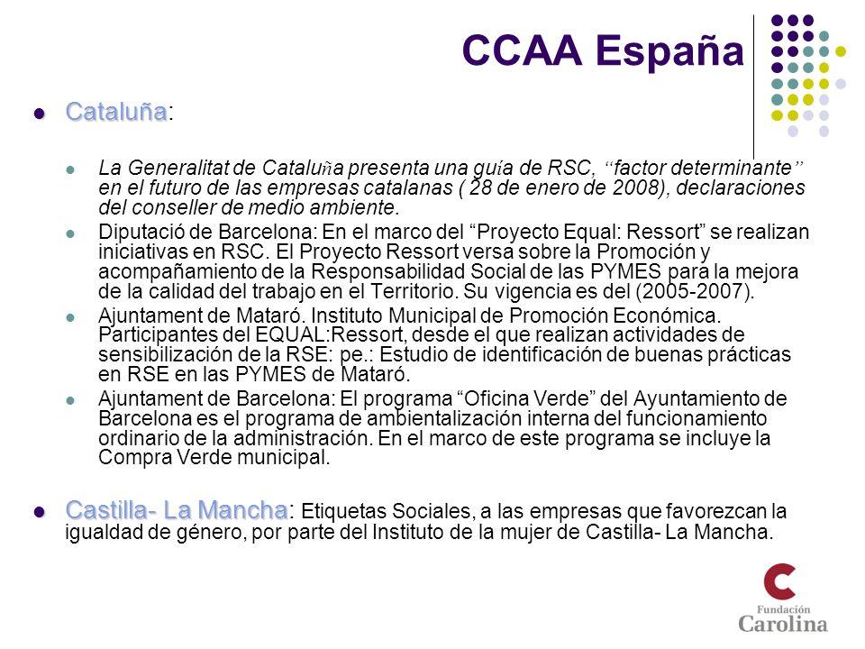 CCAA España Cataluña: