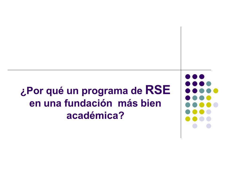 ¿Por qué un programa de RSE en una fundación más bien académica