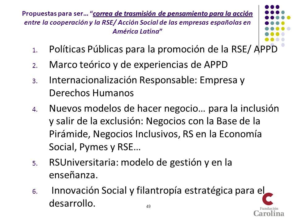 Políticas Públicas para la promoción de la RSE/ APPD