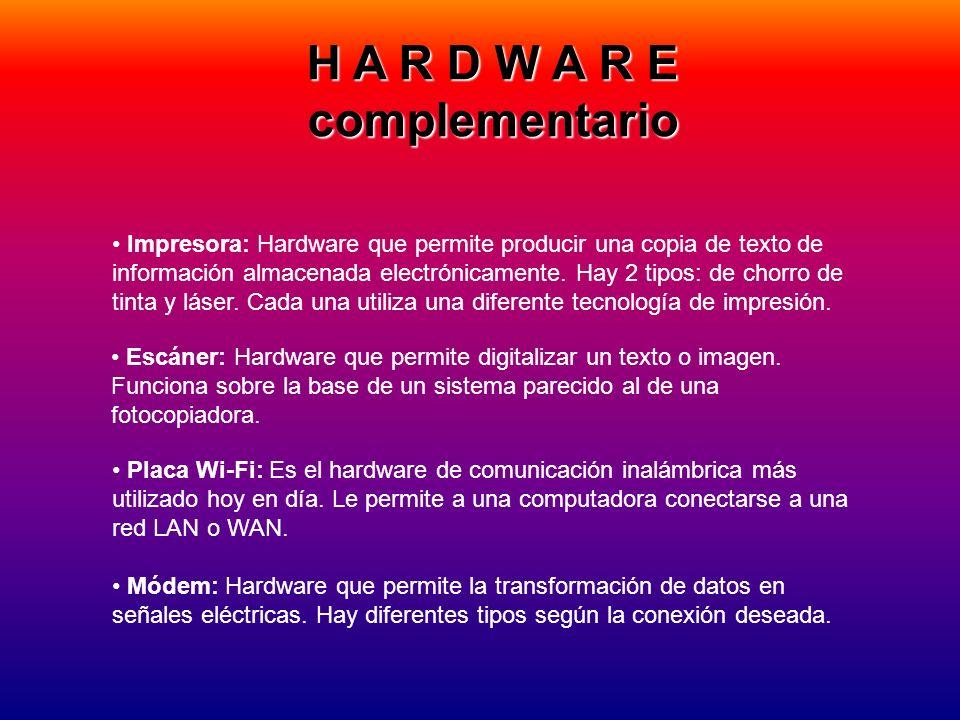 H A R D W A R E complementario