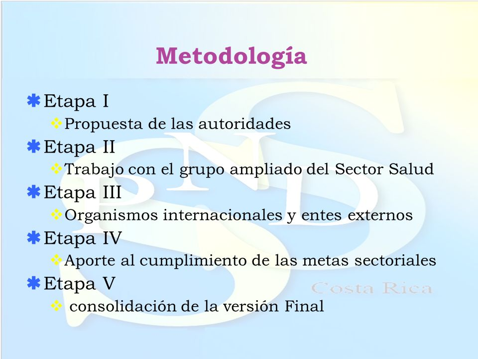 Metodología Etapa I Etapa II Etapa III Etapa IV Etapa V