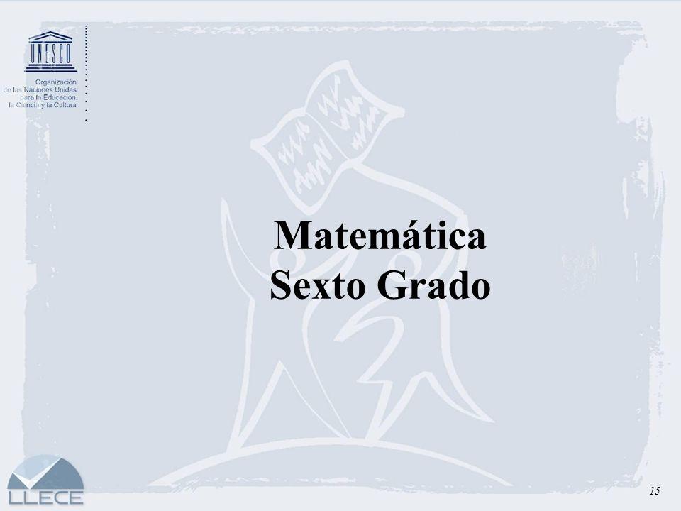 Matemática Sexto Grado