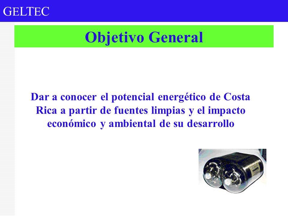 Objetivo General Dar a conocer el potencial energético de Costa Rica a partir de fuentes limpias y el impacto económico y ambiental de su desarrollo.