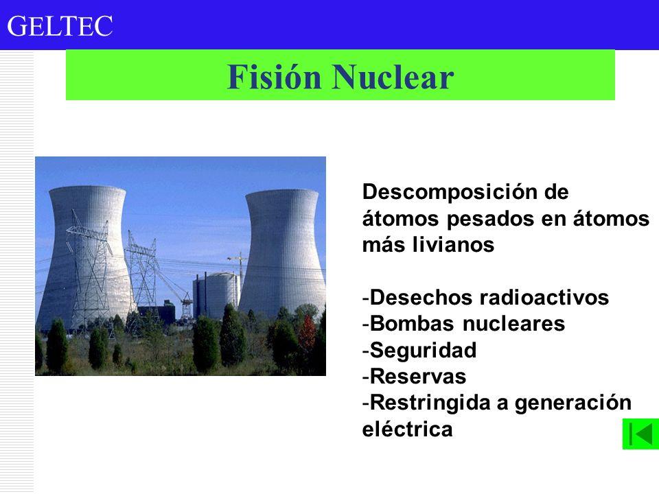 Fisión Nuclear Descomposición de átomos pesados en átomos más livianos