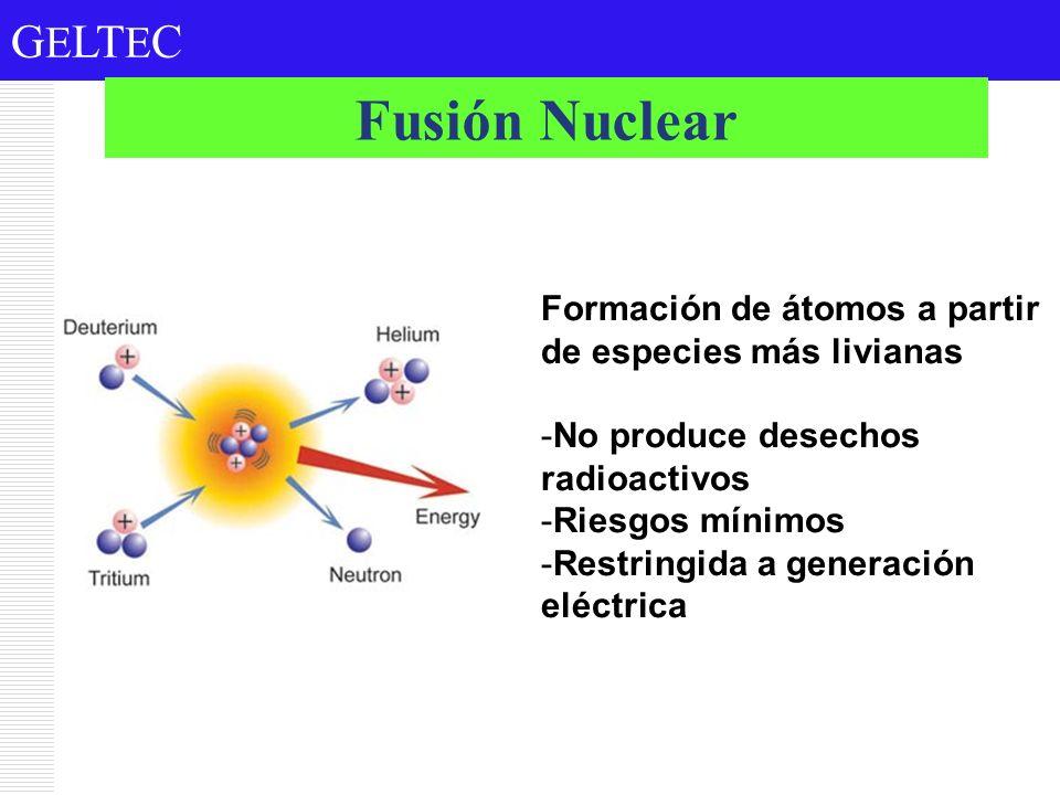 Fusión Nuclear Formación de átomos a partir de especies más livianas