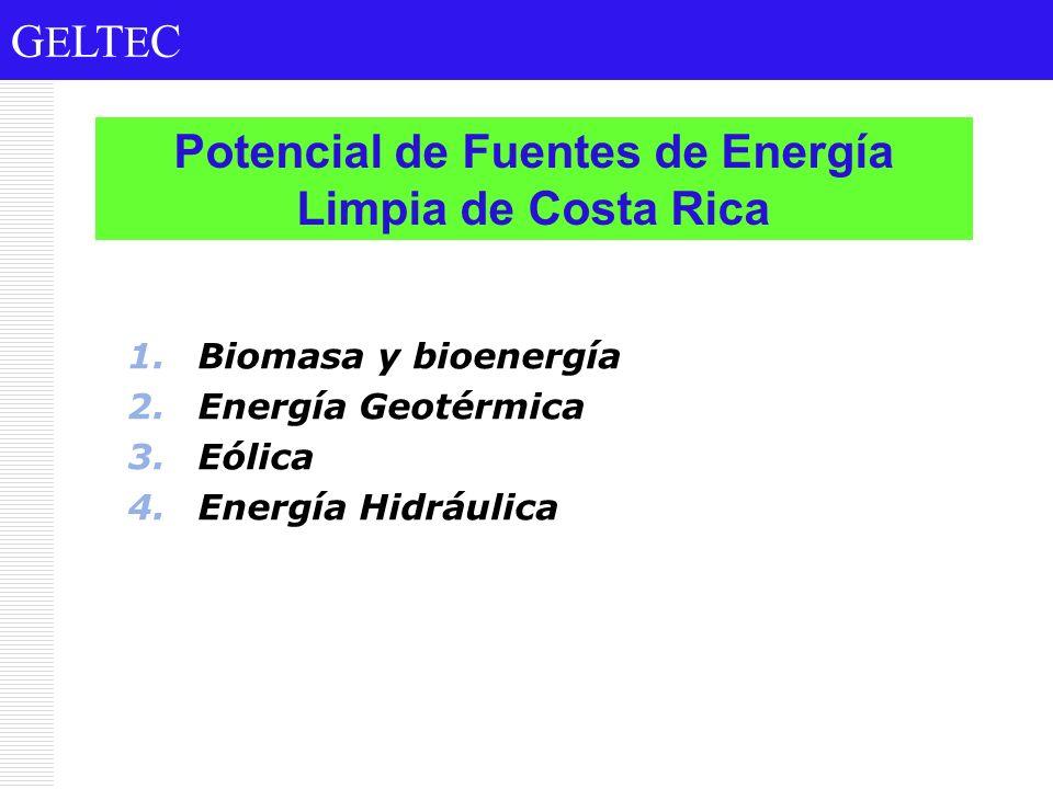 Potencial de Fuentes de Energía Limpia de Costa Rica