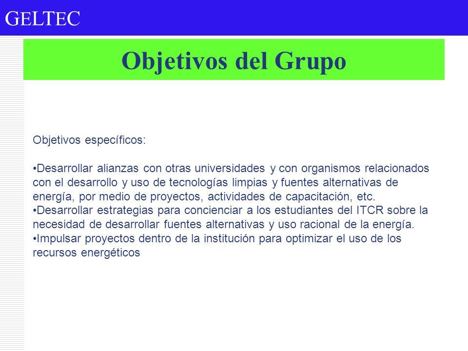 Objetivos del Grupo Objetivos específicos: