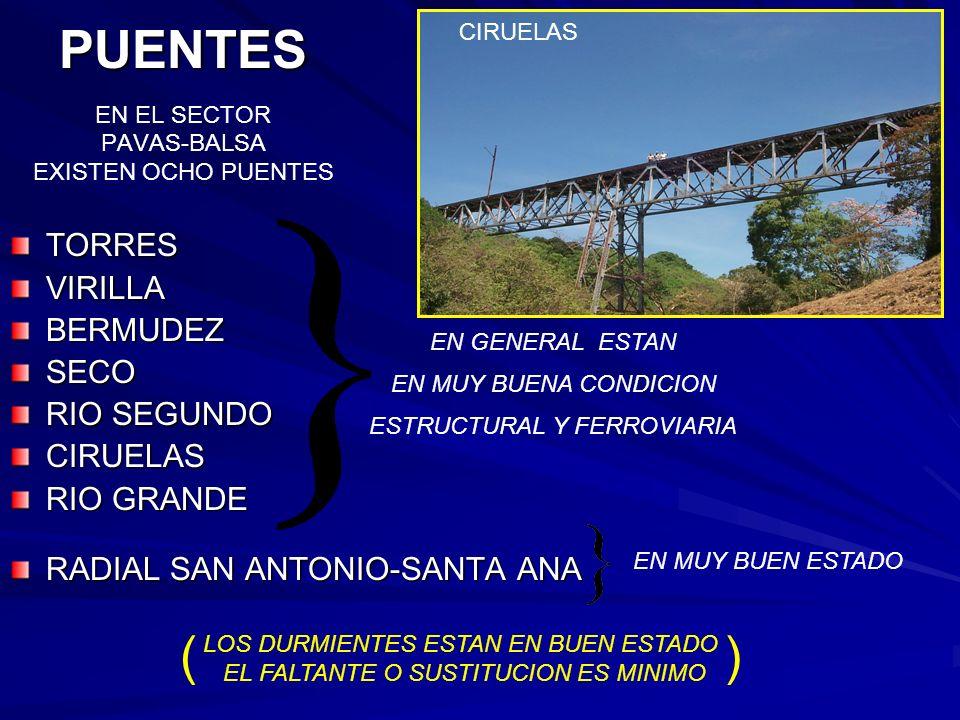 PUENTES EN EL SECTOR PAVAS-BALSA EXISTEN OCHO PUENTES
