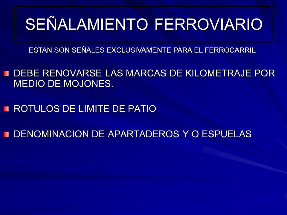 SEÑALAMIENTO FERROVIARIO