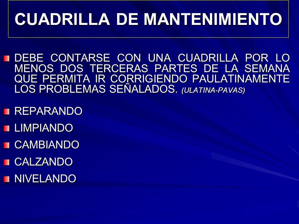 CUADRILLA DE MANTENIMIENTO