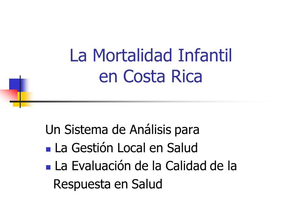 La Mortalidad Infantil en Costa Rica