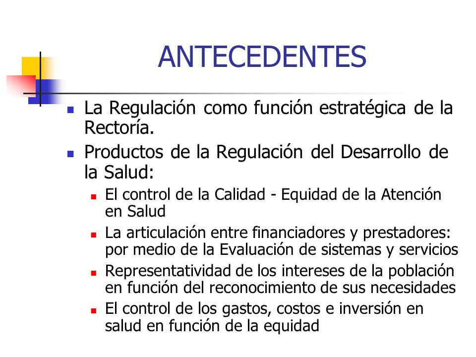 ANTECEDENTES La Regulación como función estratégica de la Rectoría.