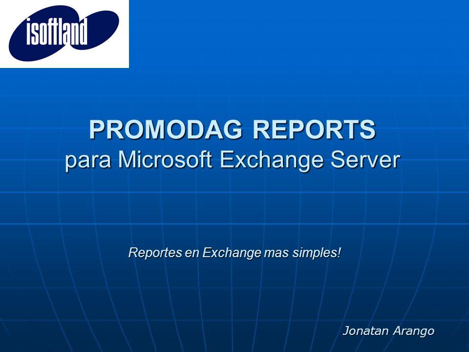 PROMODAG REPORTS para Microsoft Exchange Server