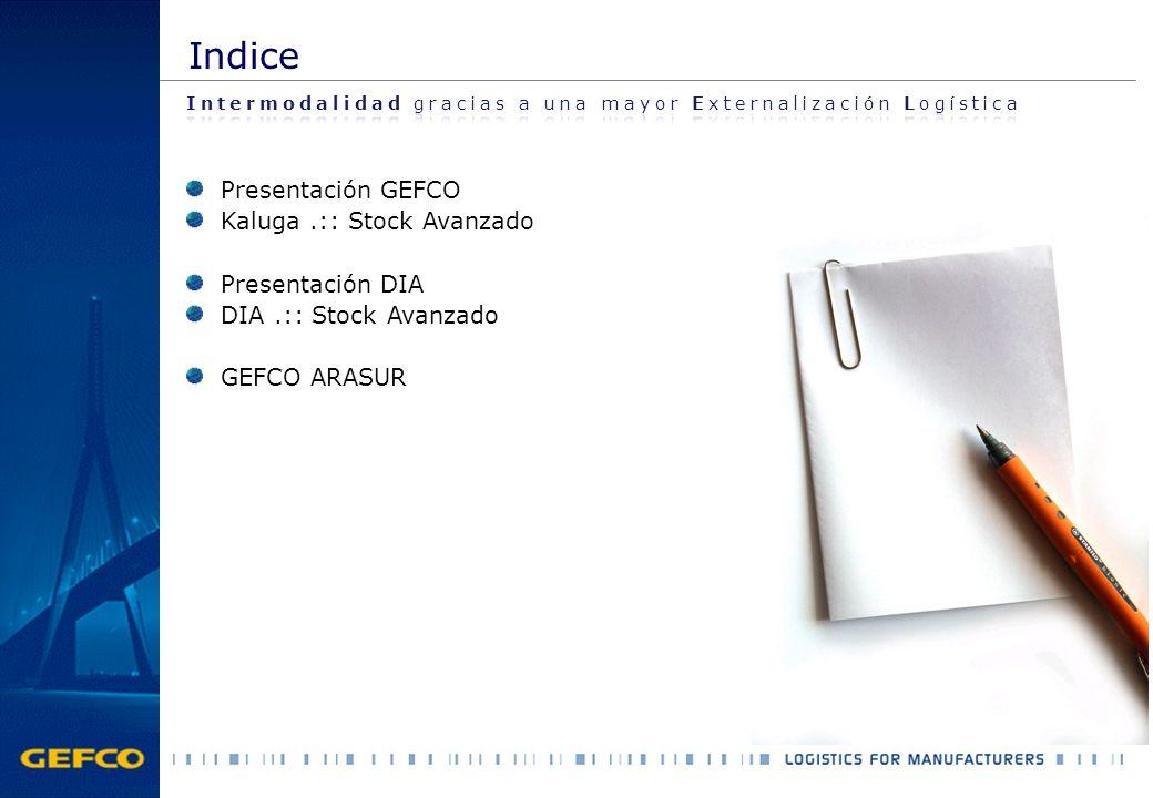 Indice Presentación GEFCO Kaluga .:: Stock Avanzado Presentación DIA