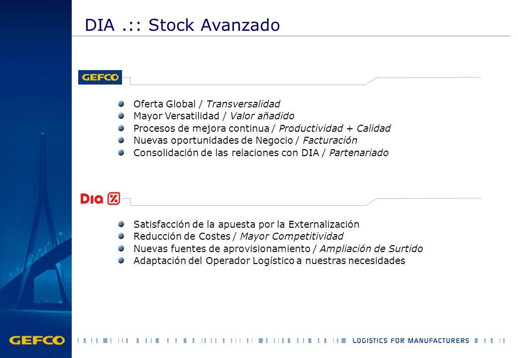 DIA .:: Stock Avanzado Oferta Global / Transversalidad