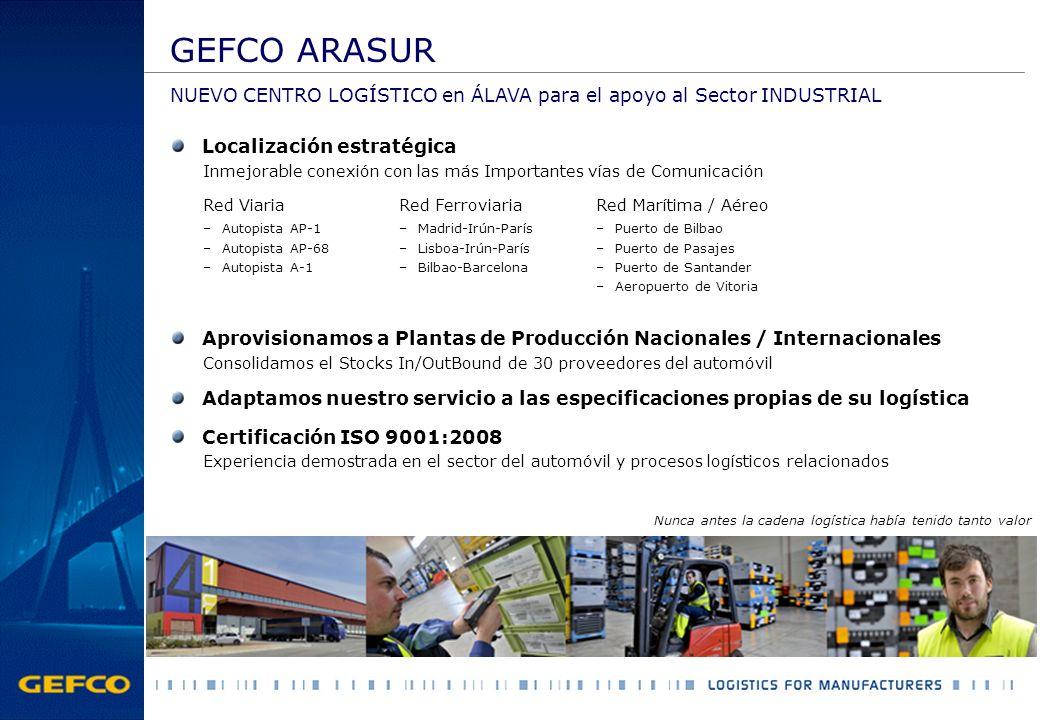 GEFCO ARASUR NUEVO CENTRO LOGÍSTICO en ÁLAVA para el apoyo al Sector INDUSTRIAL. Localización estratégica.