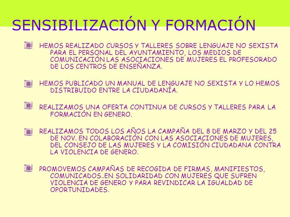 SENSIBILIZACIÓN Y FORMACIÓN
