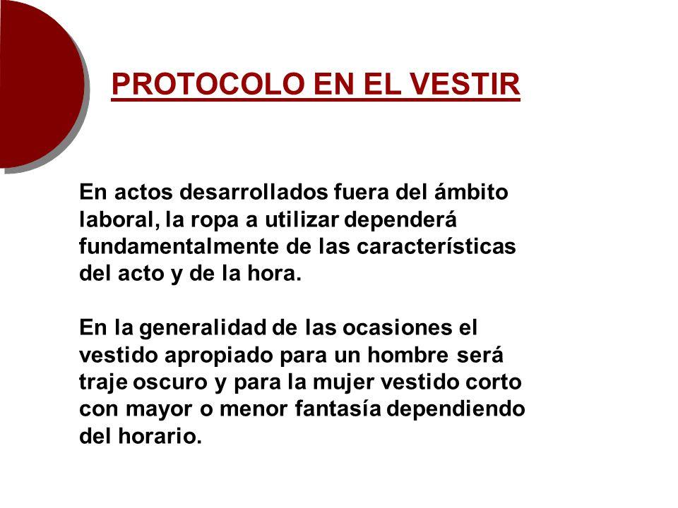 PROTOCOLO EN EL VESTIR