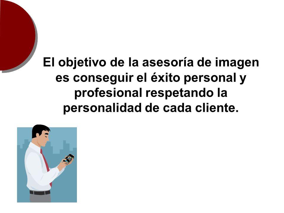 El objetivo de la asesoría de imagen es conseguir el éxito personal y profesional respetando la personalidad de cada cliente.