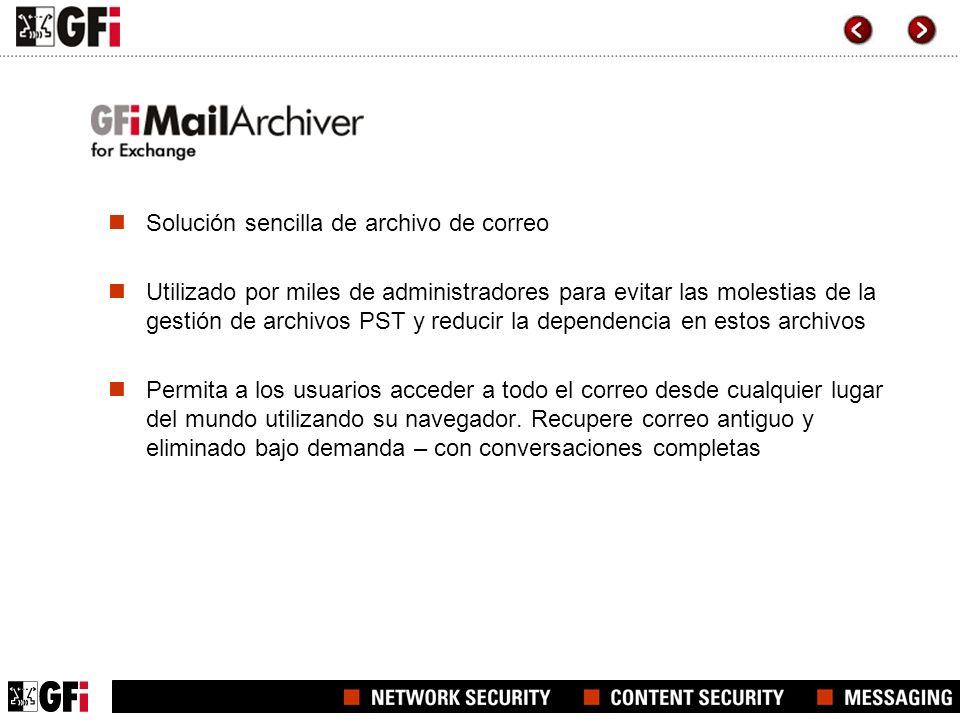 Solución sencilla de archivo de correo