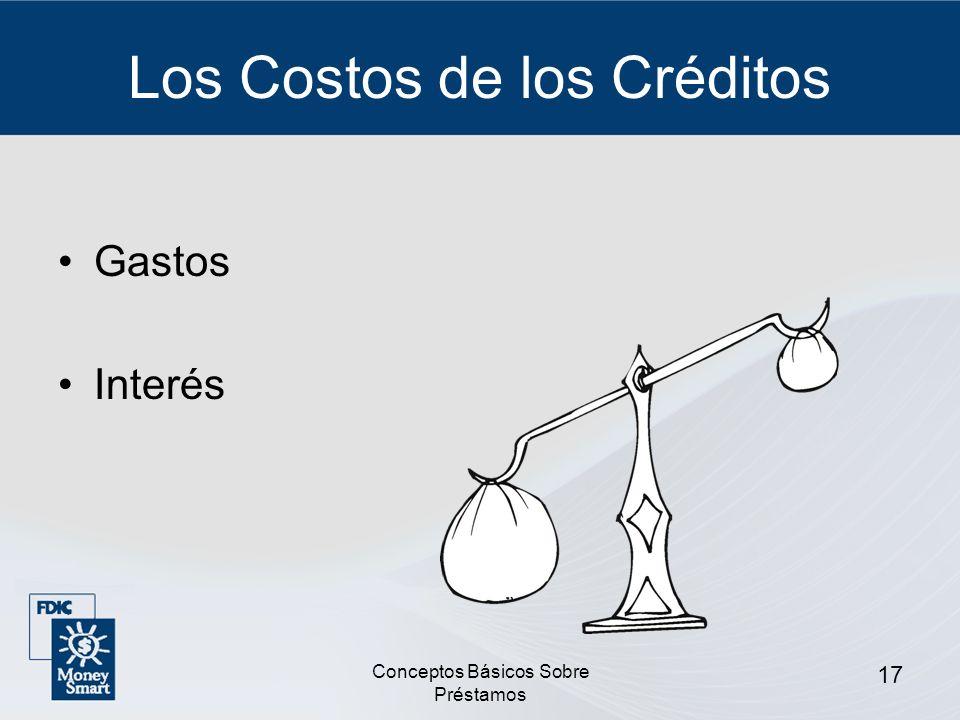 Los Costos de los Créditos