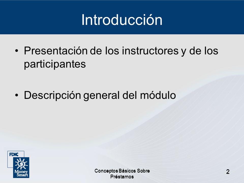 Introducción Presentación de los instructores y de los participantes